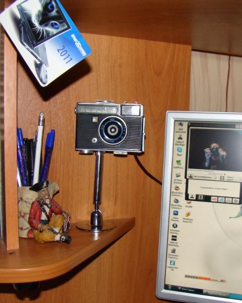 веба из старого фотоаппарата
