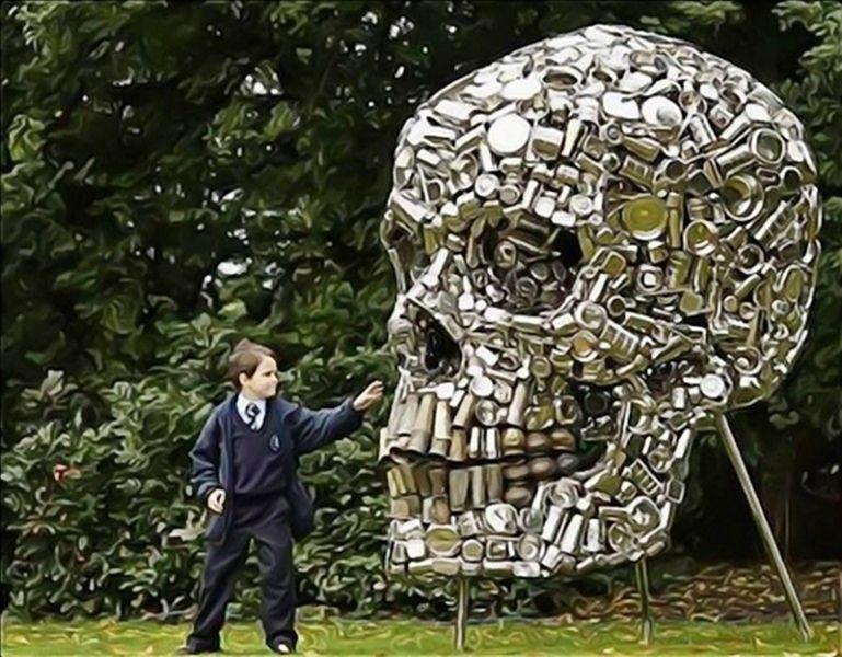 Скульптуры из мусора своими руками на  www.mozgochiny.ru _02