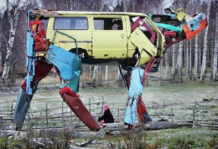 Скульптуры из мусора своими руками на  www.mozgochiny.ru _21