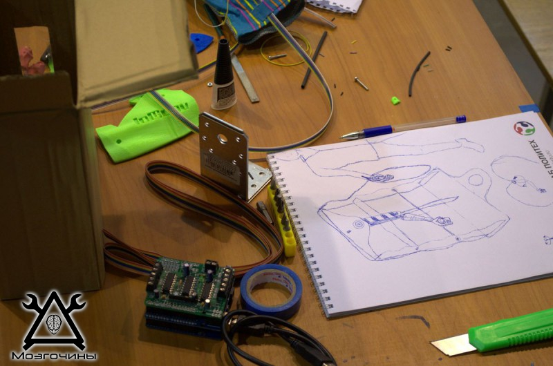 Рука робота своими руками. Управляемая механическая рука и перчатка. Школа FabLab. Самоделки (www.mozgochiny.ru) - 001 (31)