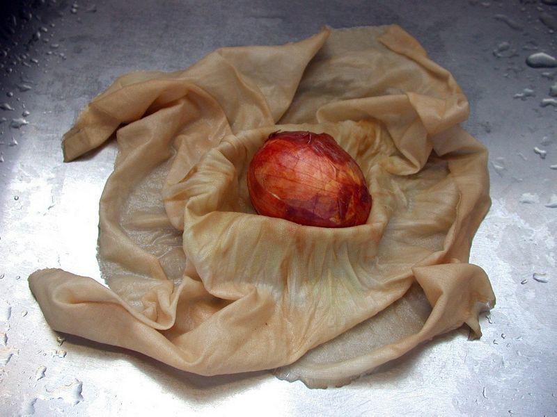 Onion Skin Easter Eggs