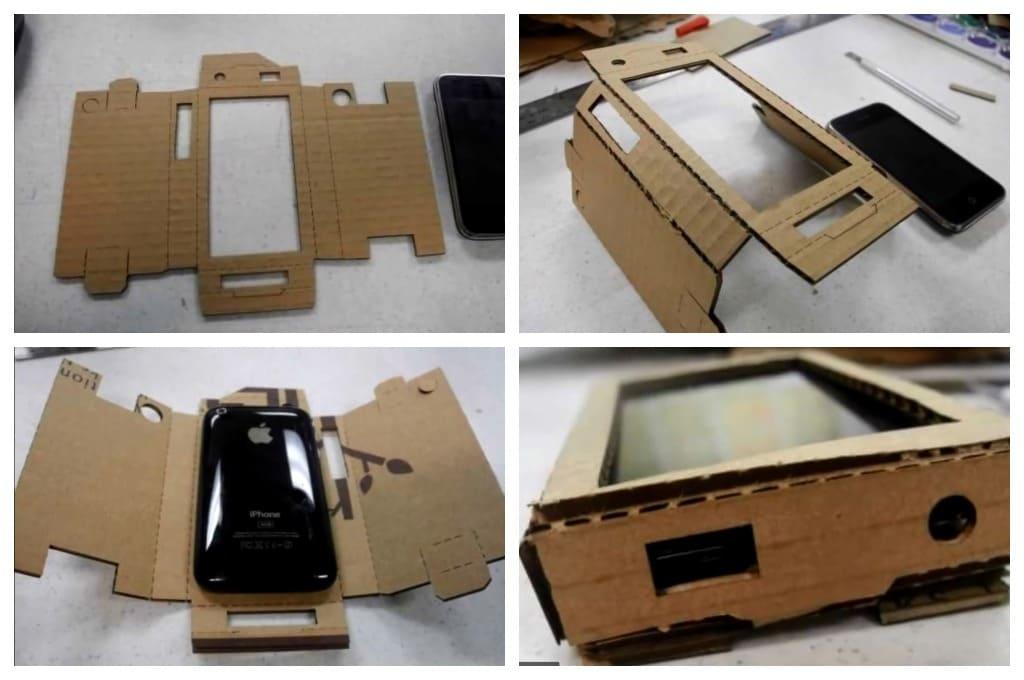 создание чехла для телефона из картона