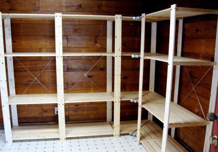 Стеллаж деревянный своими руками для кладовки, ванны, в комнату