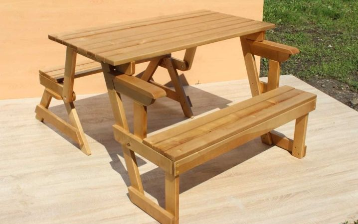 Стол-скамейка трансформер: чертежи