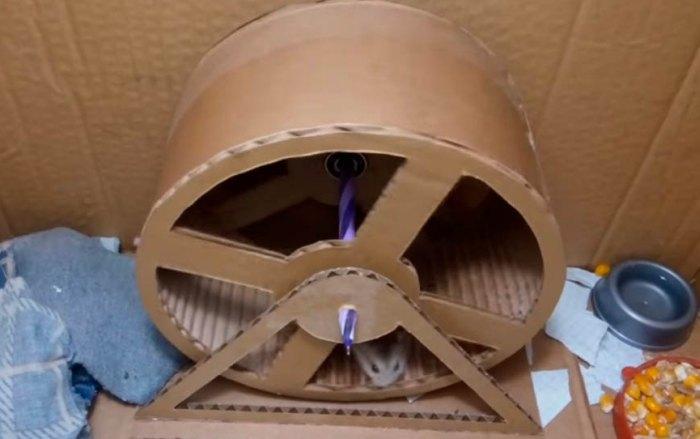 как сделать колесо для хомяка своими руками