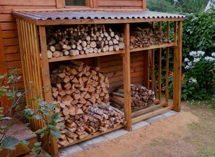 стеллажи для дров своими руками
