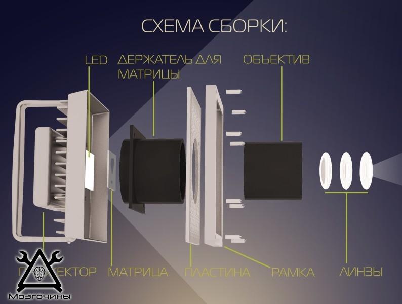 Логопроектор светодиодный своими руками www.mozgochiny.ru-05