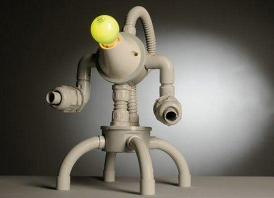 Самодельная ночник в виде робота