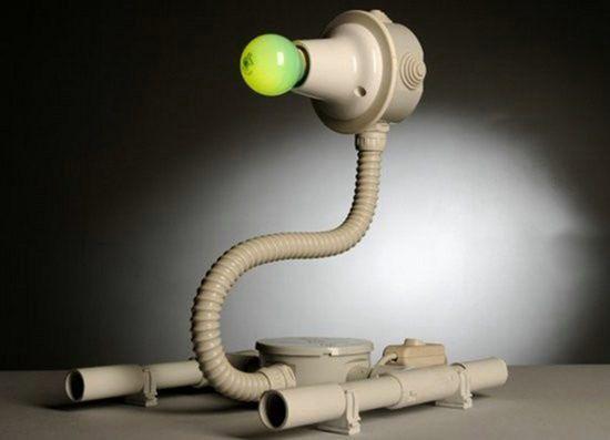 Самодельная лампа в виде робота