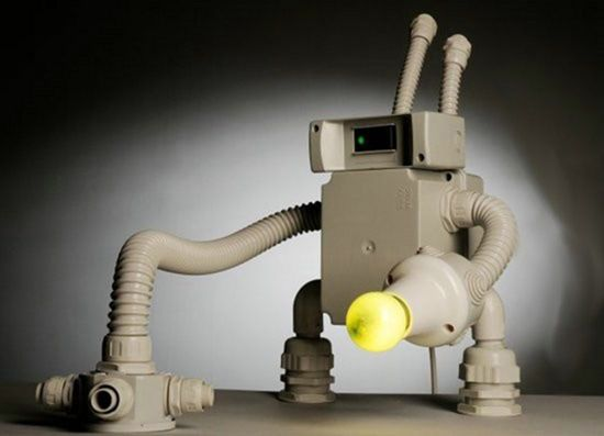 Сделай сам, интересный ночник и украшение интерьера в виде робота