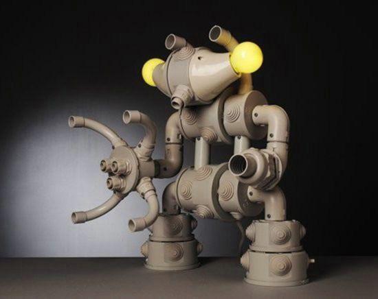 самый интересный самодельная светильник в виде робота