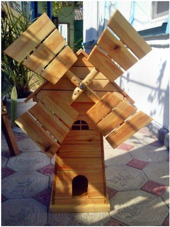 Как сделать поделку из дерева мельницу
