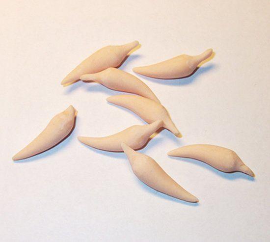Когти, похожие на маленькие, но очень острые перцы чили