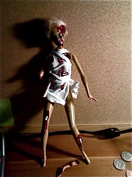 самодельная кукла - зомби (прикольные самоделки) 3.