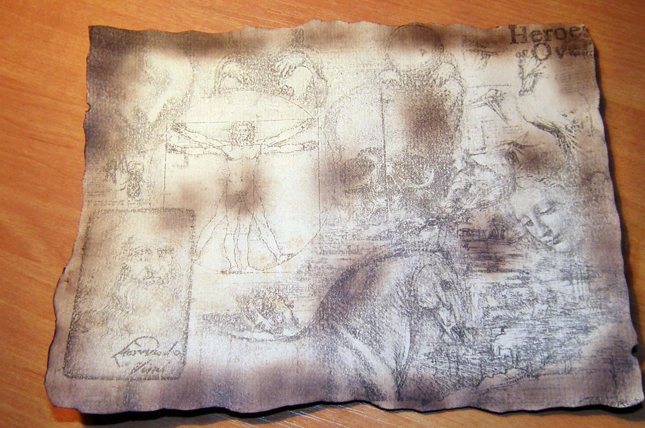 Как сделать старую бумагу в домашних условиях