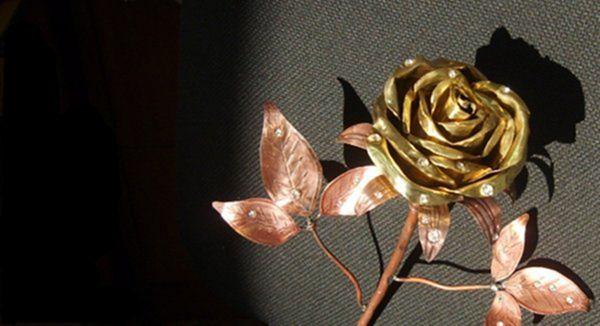 Цветок из металла (ворк)