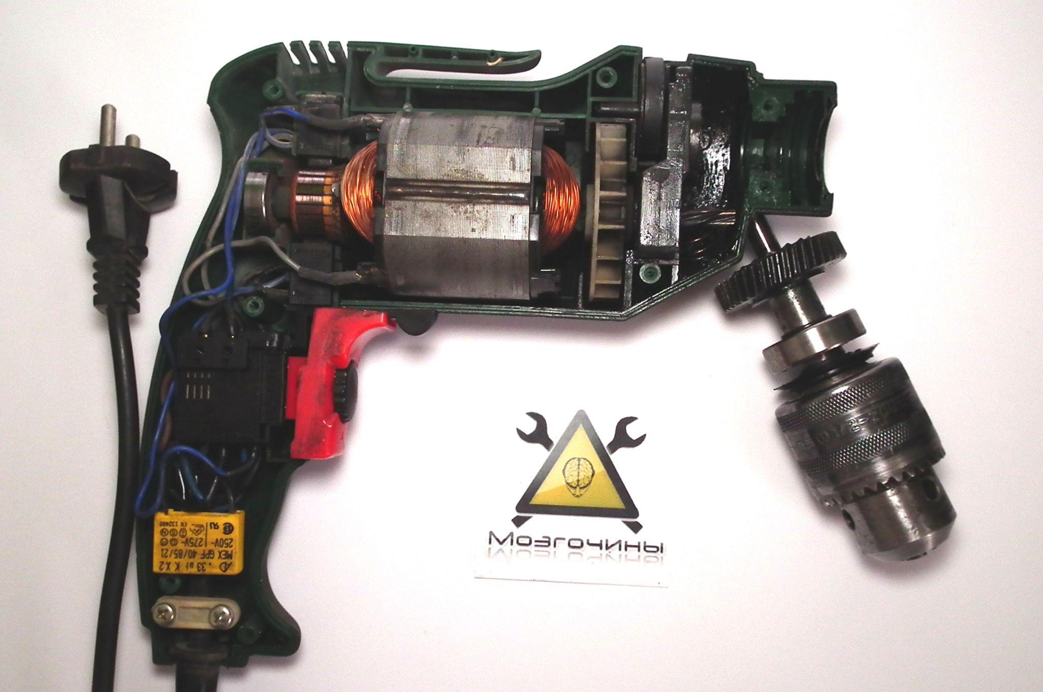 схема включения клекторной дрели среверсом