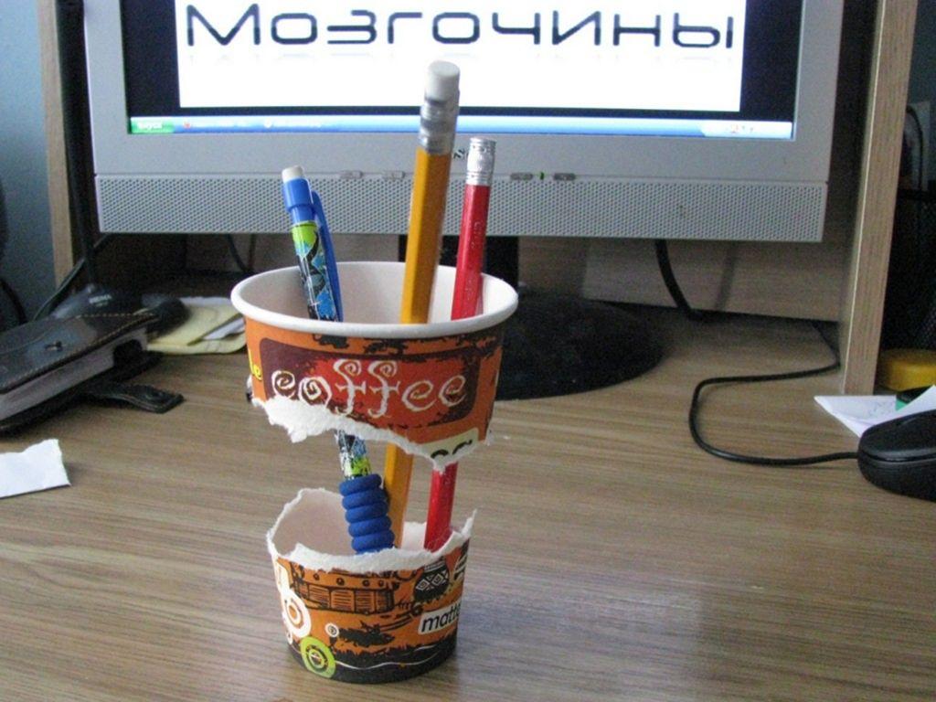 Украсить подставка для ручек своими руками