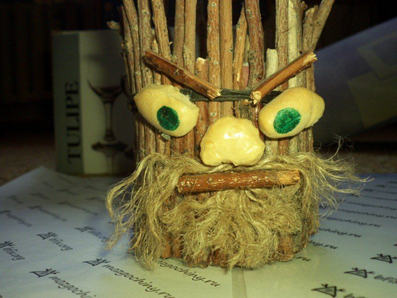 Борода своими руками из ниток