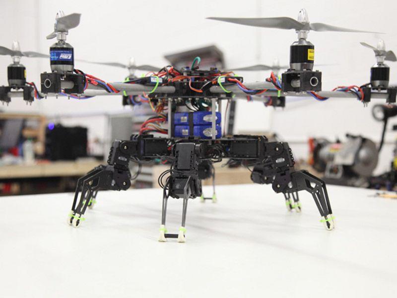 Самодельный летающий робот - паук