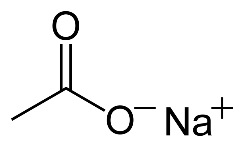 Sodium-acetate-2D-skeletal