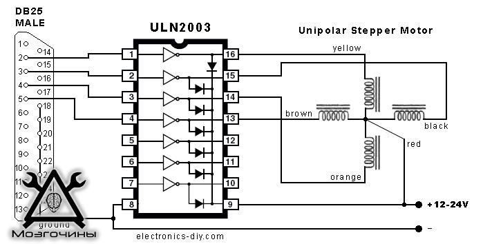 Драйвер на uln2003 своими руками