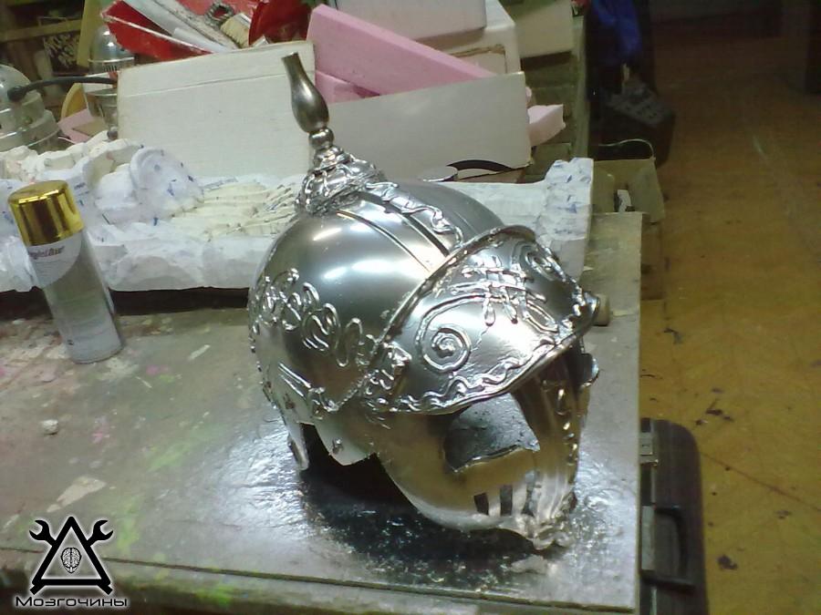 Сделать шлем богатыря не из бутылки своими руками