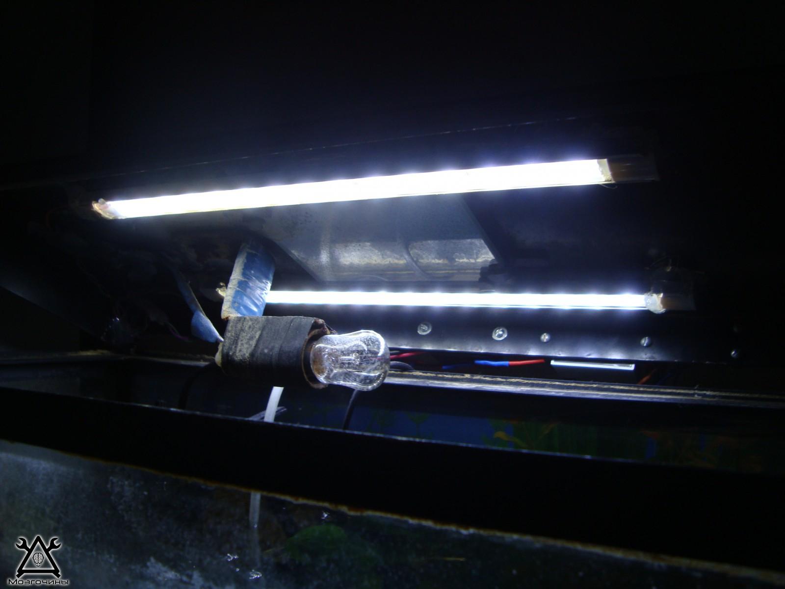 Подсветка для аквариума своими руками фото