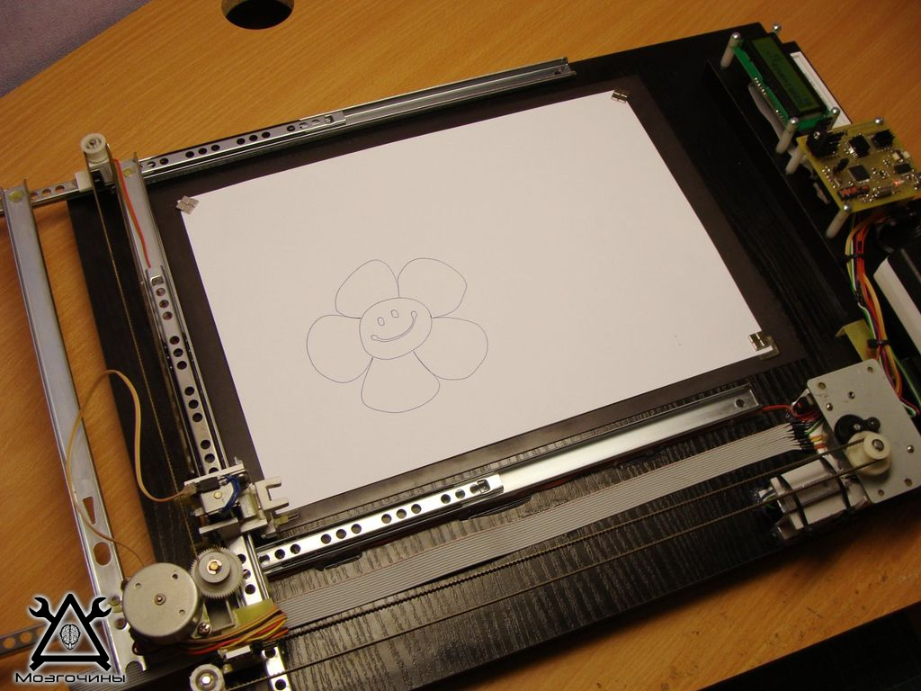 Плоттер из принтера своими руками