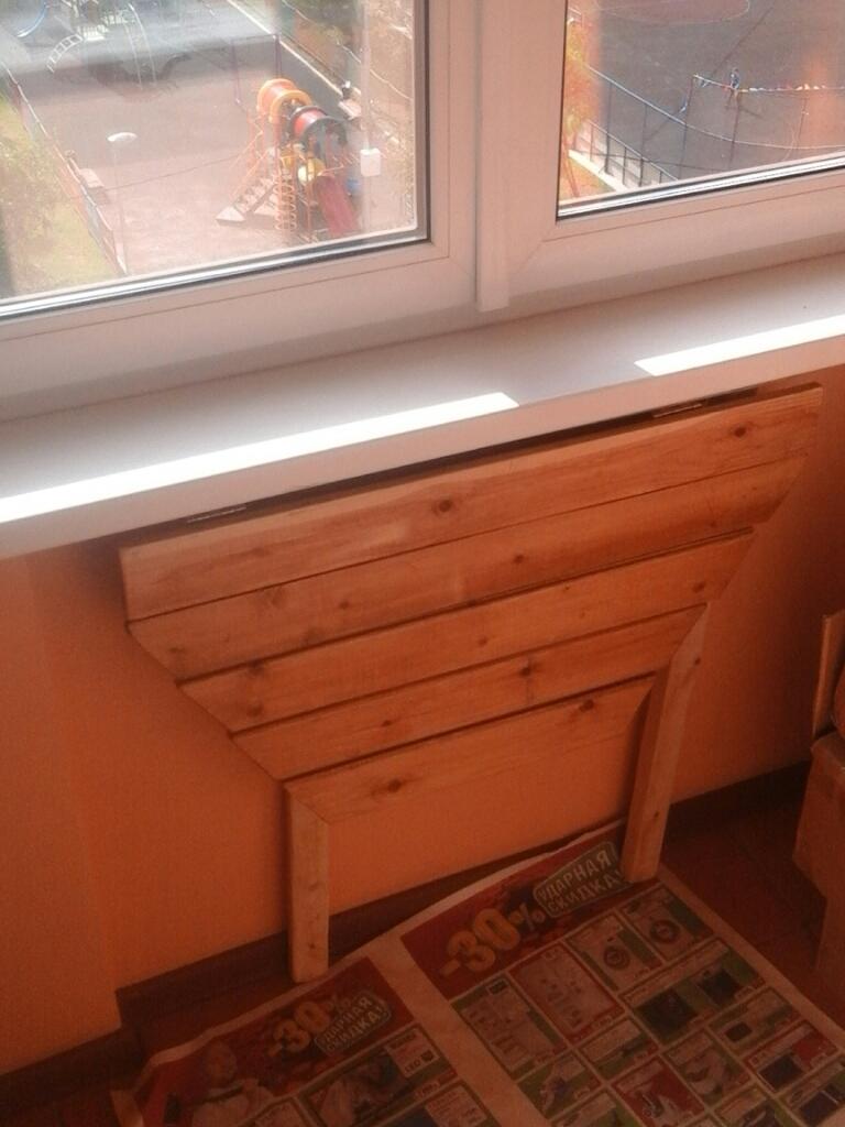 Самодельный складной стол для балкона.