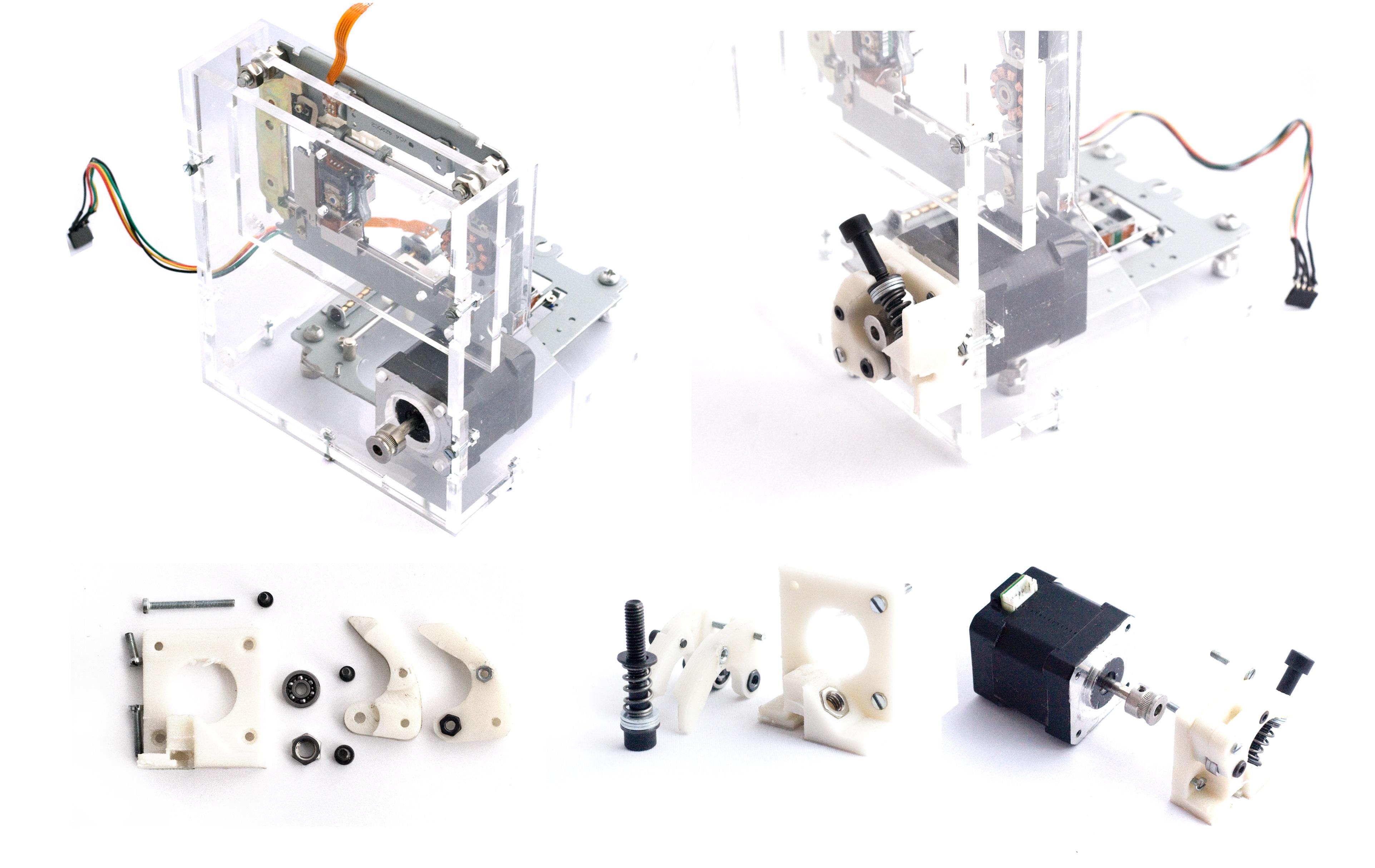 экструдер для 3д принтера схема