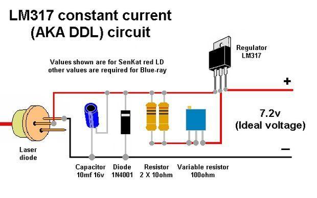 Схема мощного лазера