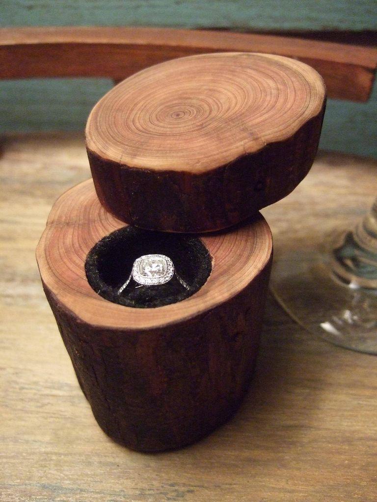 Коробочка из дерева для колец своими руками