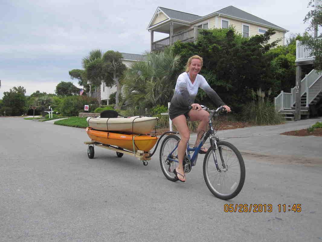 велоприцеп лодка