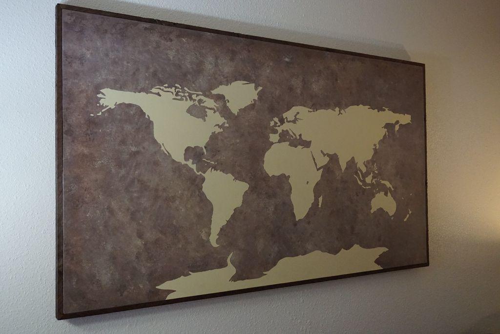 Рамка для карты мира своими руками 68