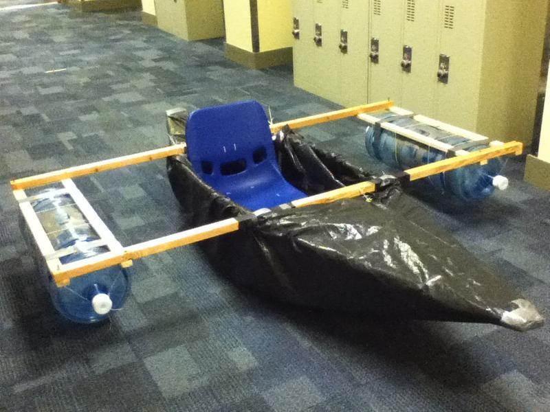 каркас лодки из пвх труб