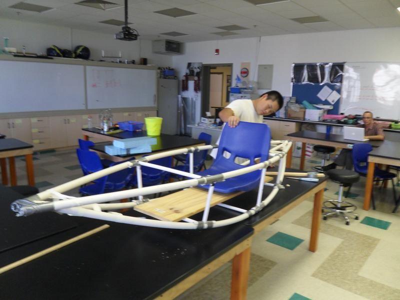 Каркас лодки из труб фото