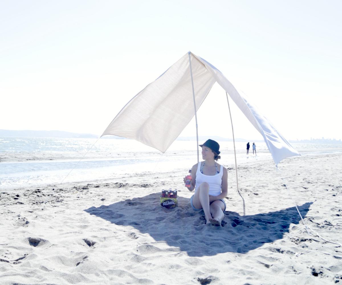 Портативный пляжный навес своими руками