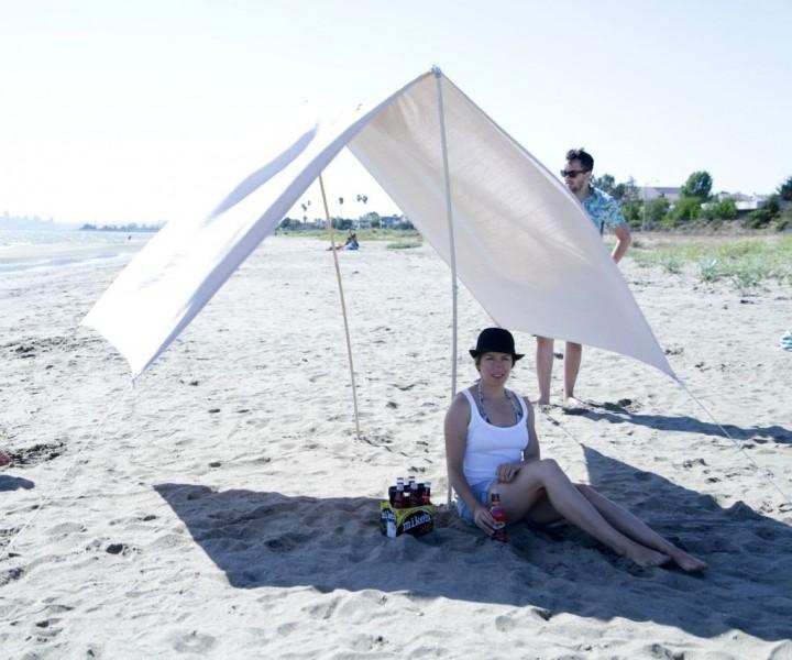 Тент для пляжа своими руками