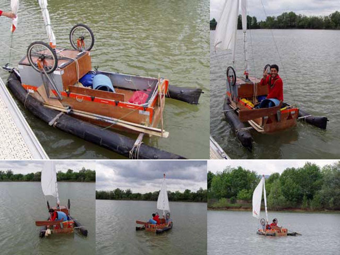 Лодка из пластиковых труб своими руками фото