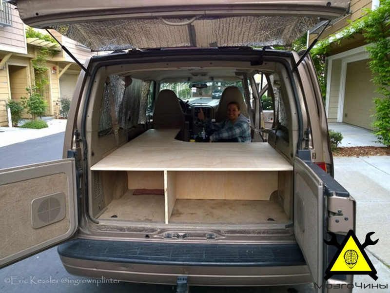 Как переделать микроавтобус в дом на колесах своими руками 574