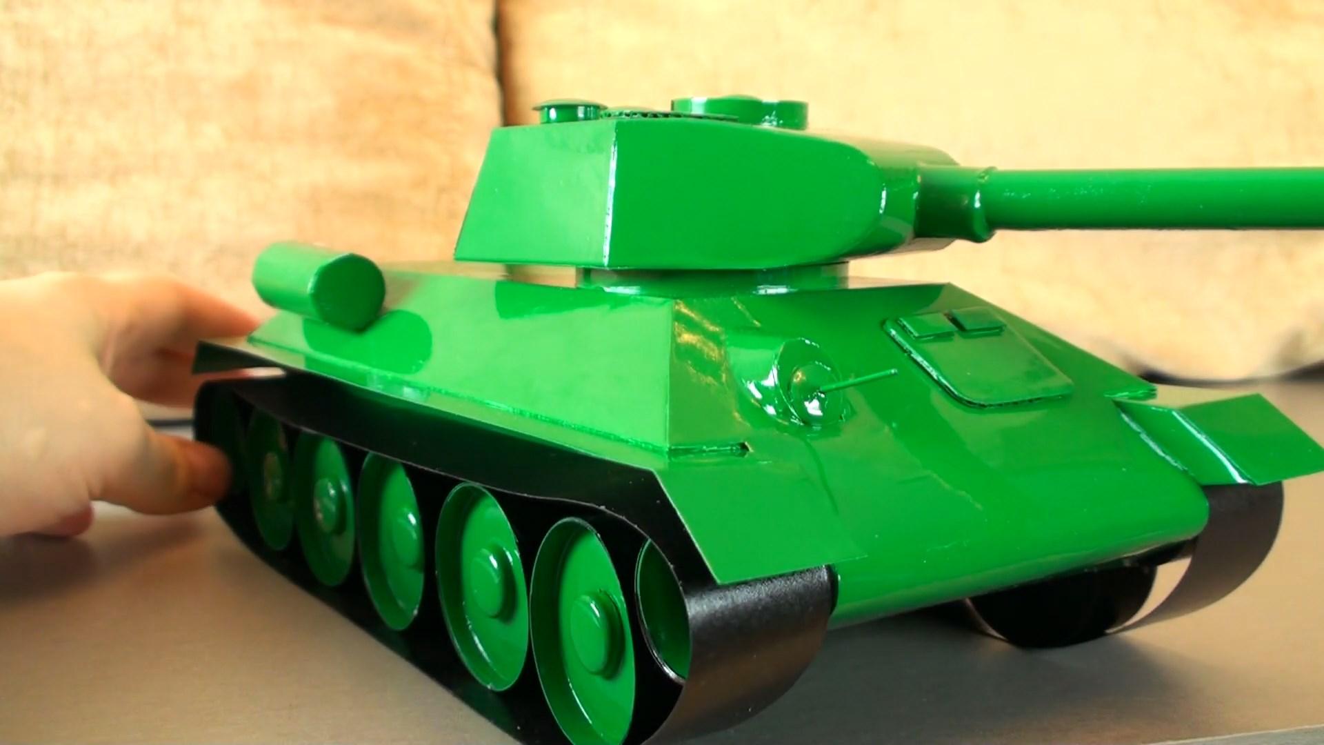 Собственный бумажный танк. Как сделать танк из бумаги 664
