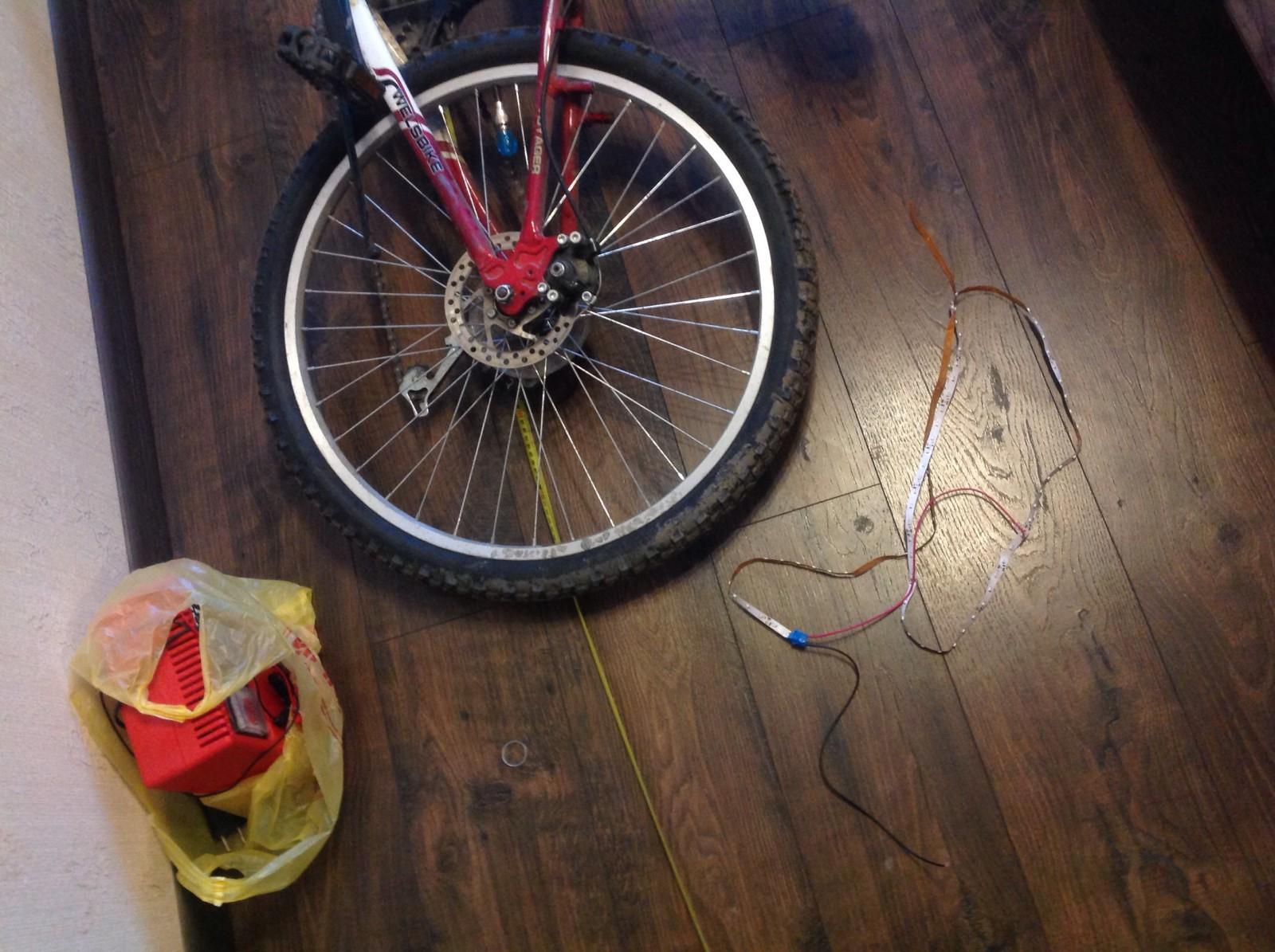 Светодиодные колеса для велосипеда своими руками