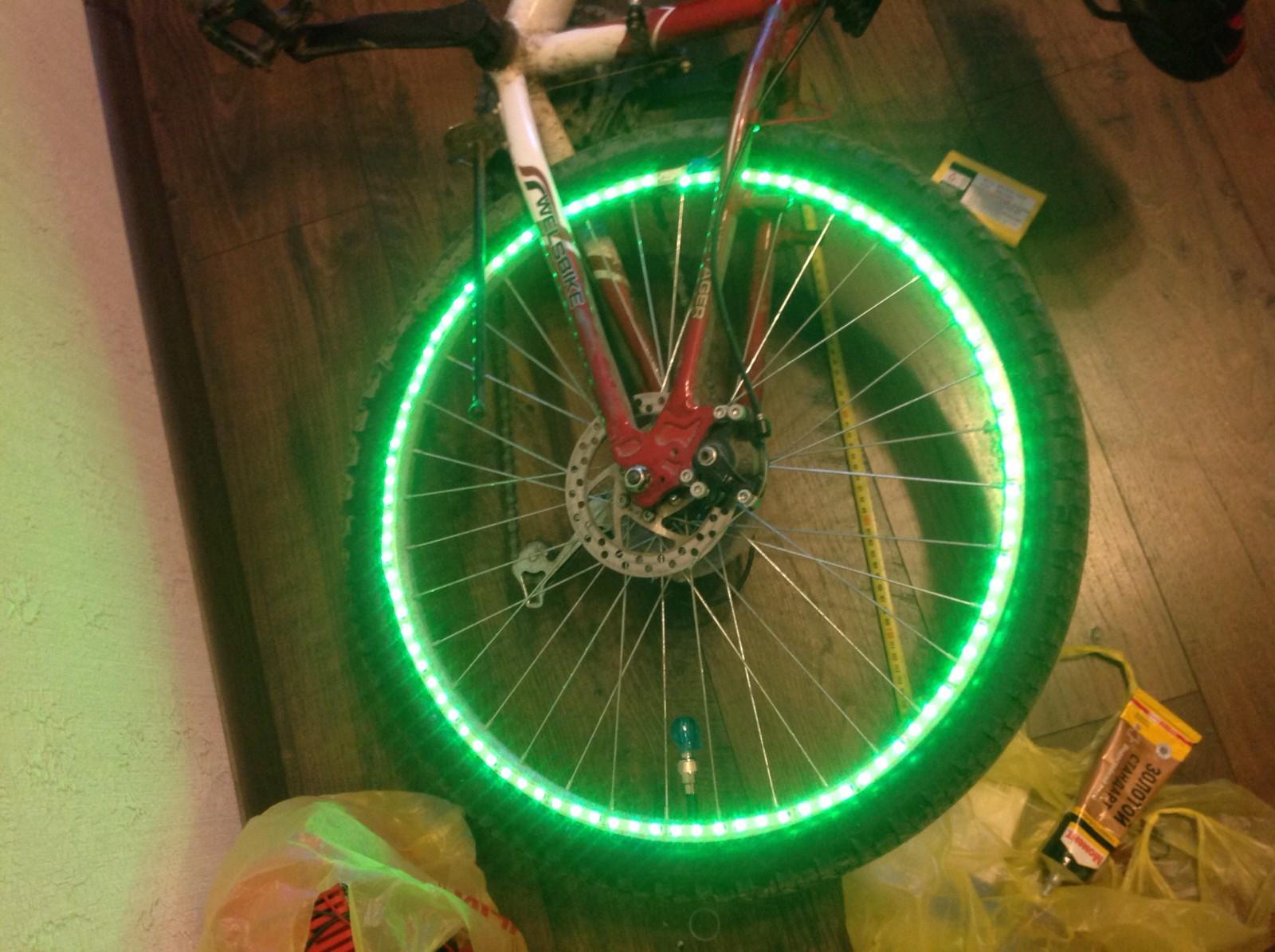 Подсветка велосипеда своими руками 94