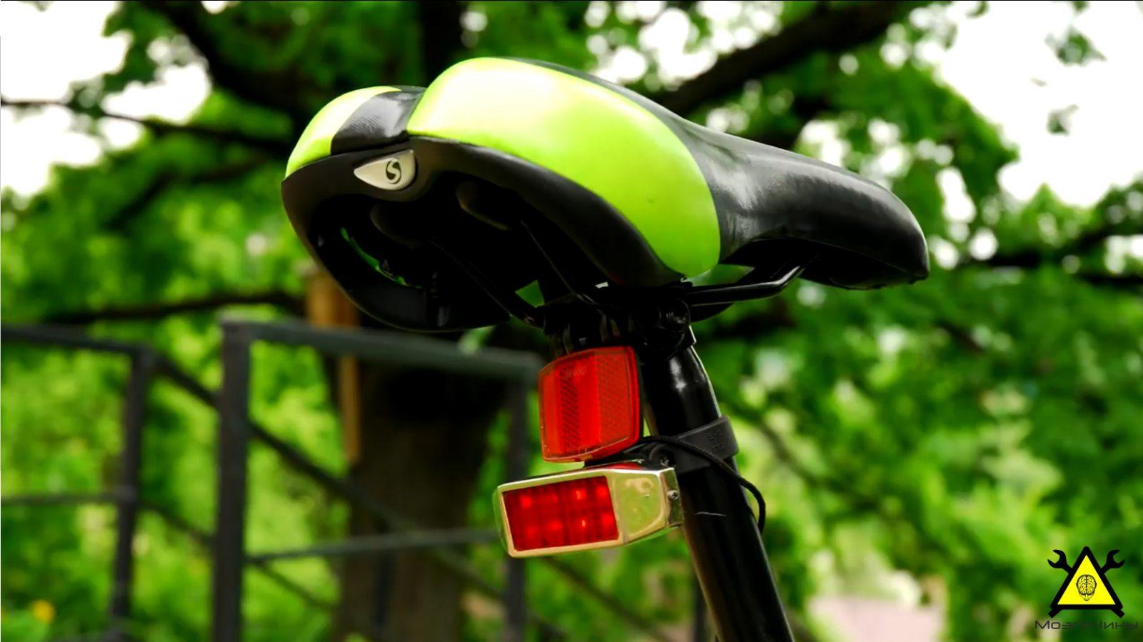 Стоп-сигнал для велосипеда (покупной и изготовленный) 100