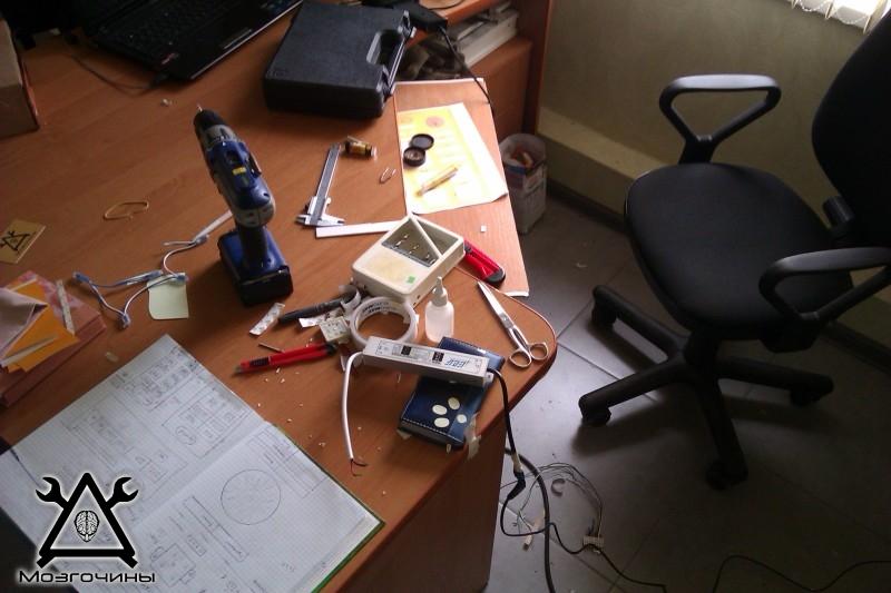 Как сделать красивый светодиодный стенд своими руками на www.mozgochiny.ru 027
