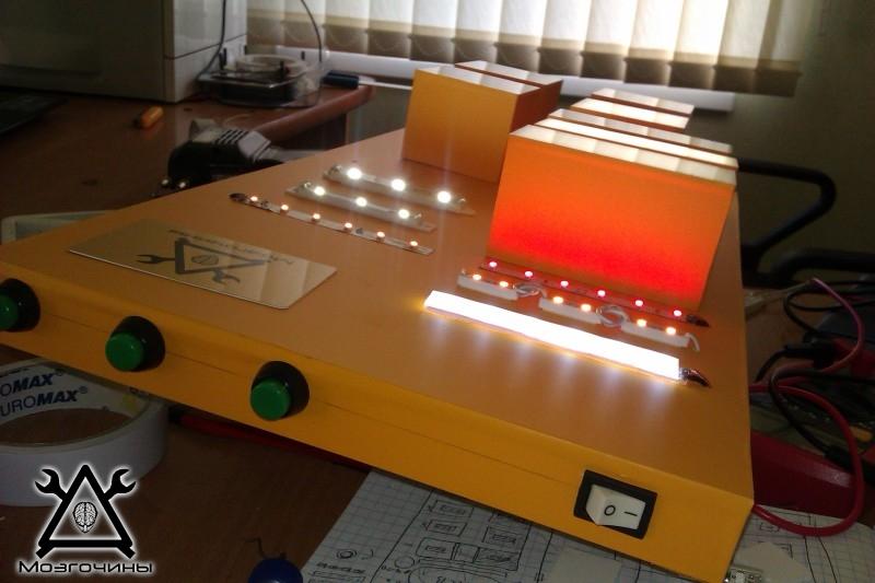 Как сделать красивый светодиодный стенд своими руками на www.mozgochiny.ru 033