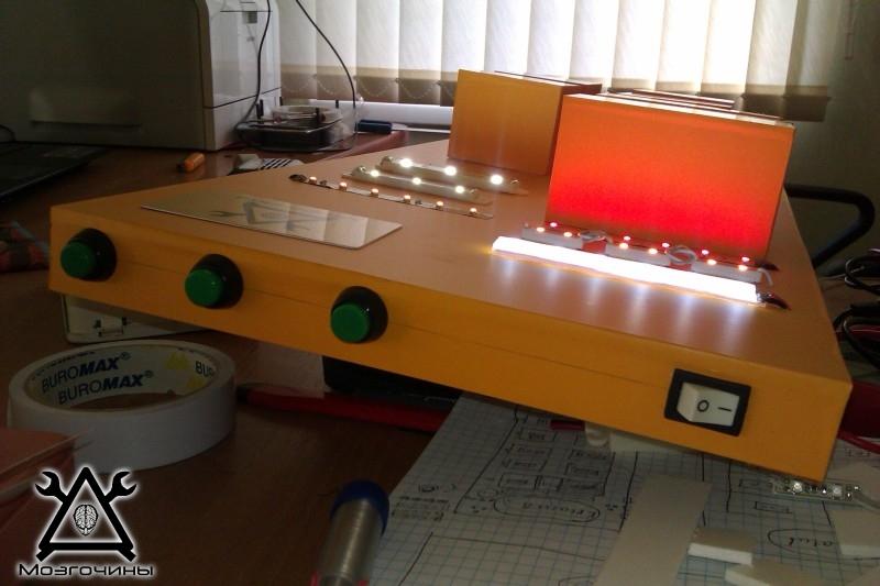 Как сделать красивый светодиодный стенд своими руками на www.mozgochiny.ru 034
