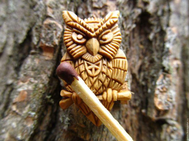 Сова из дерева