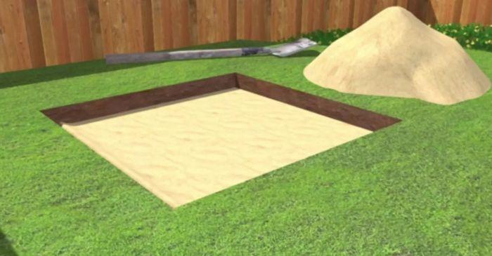 песочница своими руками на даче